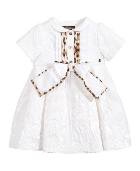 Vestido Bebe Niña Roberto Cavalli Blanco Lazo