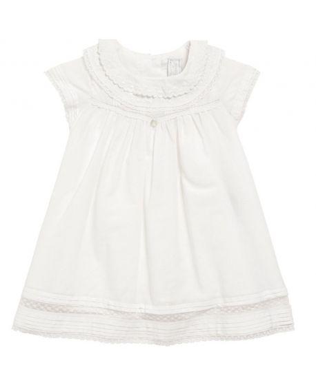 Vestido Bebe Niña Tartine et Chocolat Blanco Puntilla