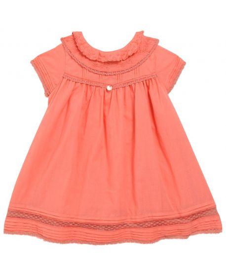 Vestido Bebe Niña Tartine et Chocolat Coral Puntilla