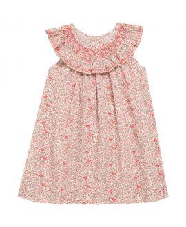 Vestido Bebe Niña Tartine et Chocolat Liberty Rosa