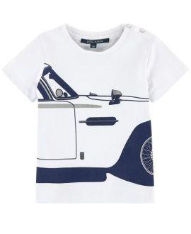 Camiseta Bebe Niño Aston Martin Detalle Coche Marino