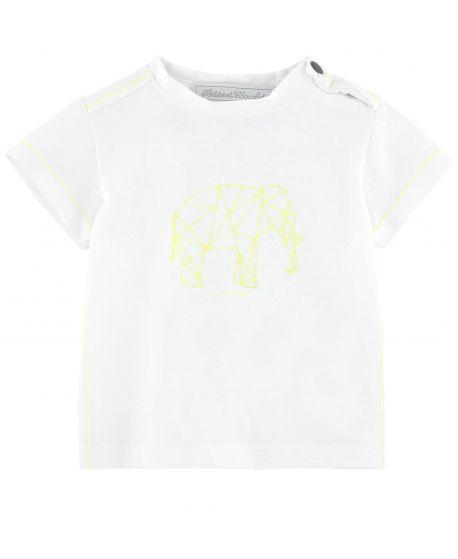 Camiseta Bebe Niño Tartine et Chocolat Blanca Elefante