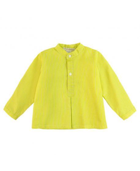Camisa Bebe Niño Casilda y Jimena Amarilla Mil Rayas