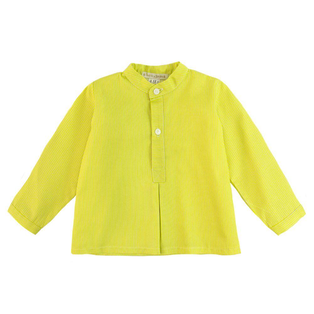 2fea195f9 Camisa Bebe Niño Casilda y Jimena Amarilla Mil Rayas - Ro Infantil