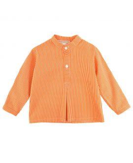 Camisa Bebe Niño Casilda y Jimena Naranja Mil Rayas