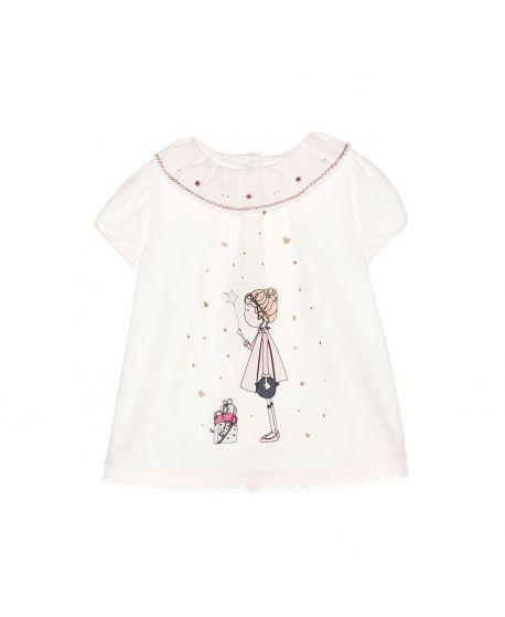 Camiseta Punto Crudo Bebe Niña Nanos