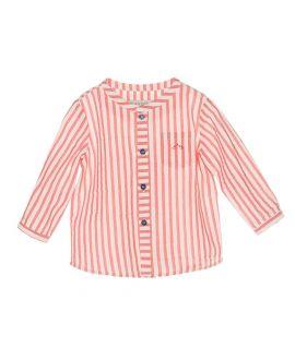 Camisa Rojo Rayas Bebe Niño Nanos
