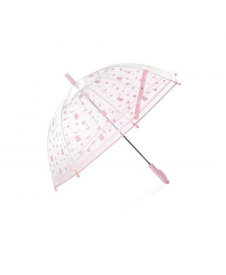 Paraguas Baby Tous Transparente Osos Rosa