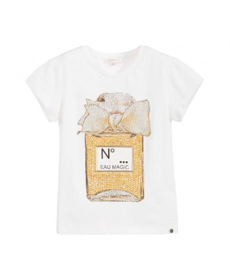 Camiseta Niña Microbe Perfume Strass (6M-7A)
