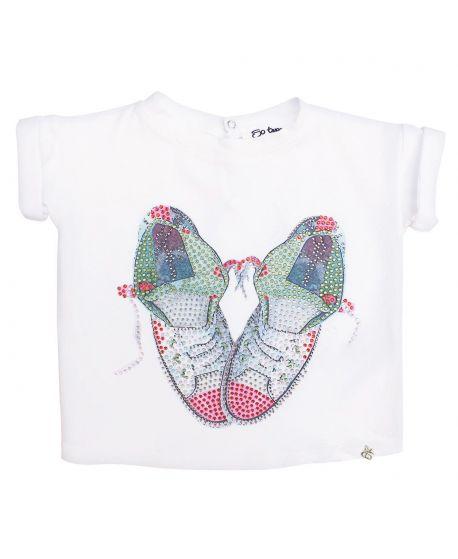Camiseta Niña So Twee Microbe Zapatillas Strass (6M-7A)
