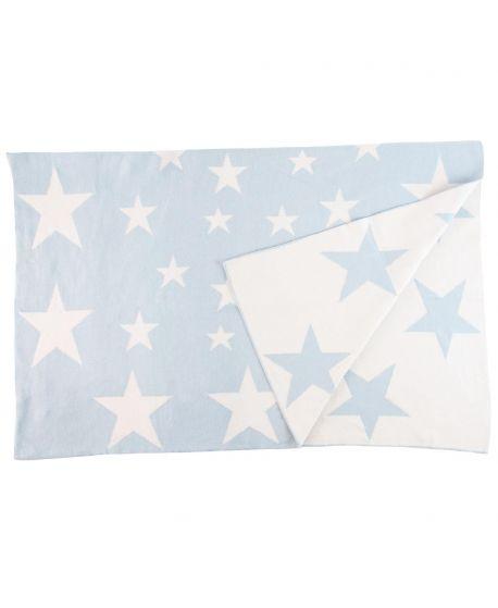 Manta Bebe Nanos Azul Estrellas