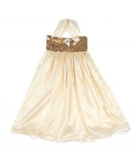 Vestido Niña Miss Grant Lentejuelas Doradas