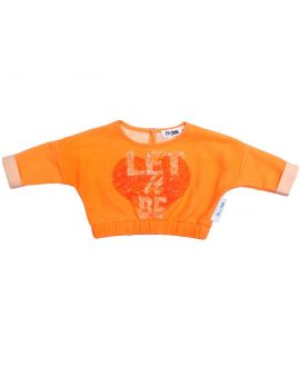 Sudadera Niña So Twee Microbe Naranja 'Let it Be'