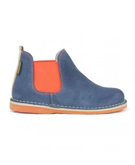 Botas Neon Boots Niño Elástico Naranja