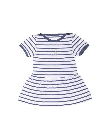 e7d4d57ef Vestido Bebe Niña Baby Tous Marino Rayas - Ro Infantil