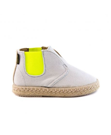 Neon Boots Niño Gris Elástco Amarillo Flúor