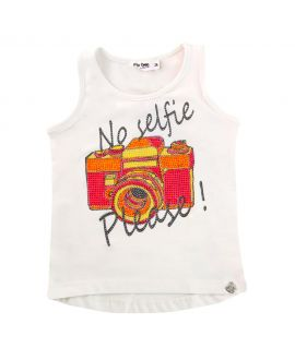 Camiseta Niña So Twee Blanca 'No Selfie'