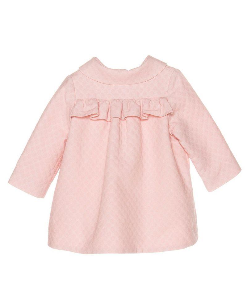 Abrigo Pique Rosa Bebe Niña Nanos - Ro Infantil b35895b9978
