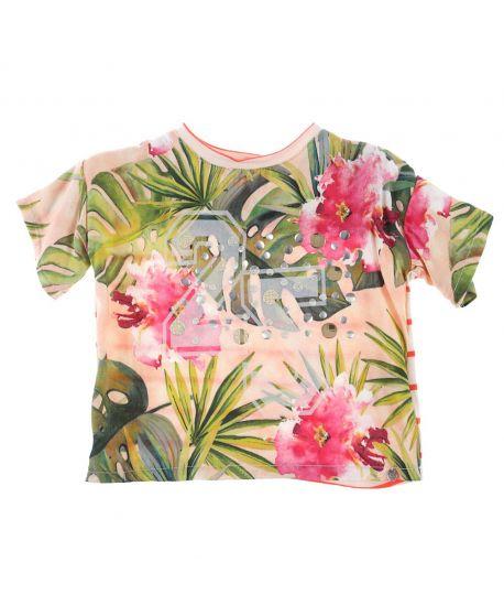 Camiseta Bebe Niña Microbe Floral