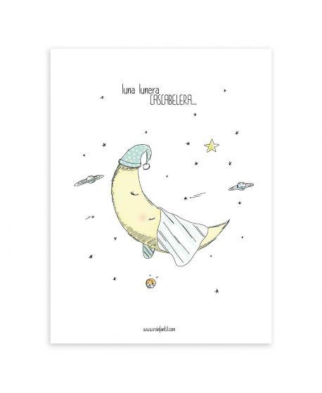 Lámina Infantil Luna Lunera Ro Infantil