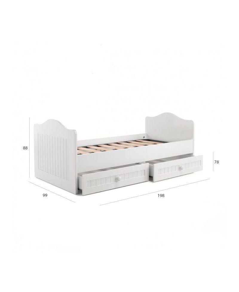 cama nido con cajones paola sin respaldo ro infantil