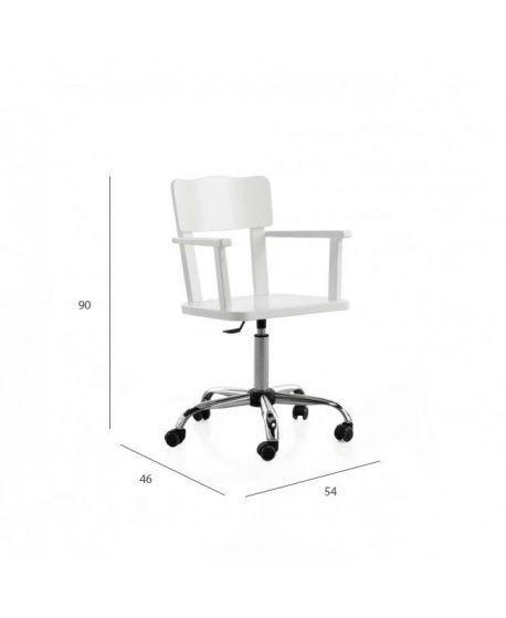 Silla de escritorio blanca paola ro infantil for Sillas de escritorio blancas
