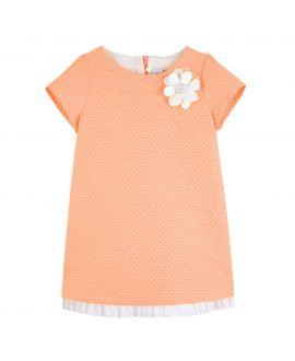 Vestido Niña Simonetta Naranja Flor