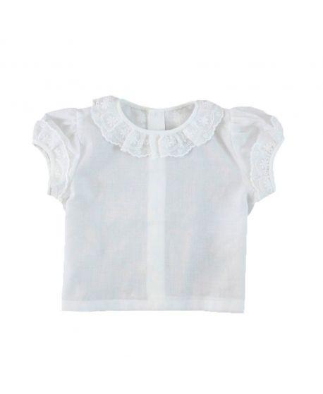 Camisa Bebe Niña Ro Infantil Batista Blanca