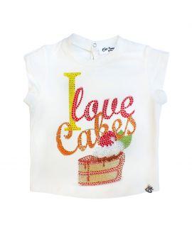 Camiseta Niña So Twee Microbe Blanca Pastel