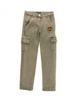 Pantalon Niña Gaudi Verde Bolsillos