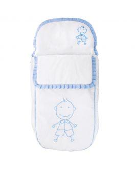 Saco Bebe Niño Ro Infantil Blanco y Azul