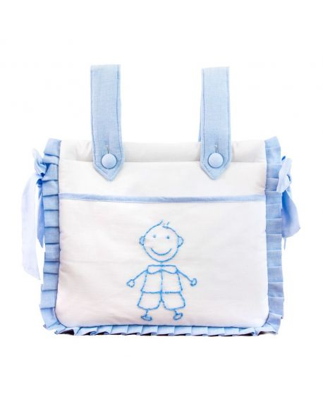 Bolsa Bebe Niño Ro Infantil Blanca y Azul