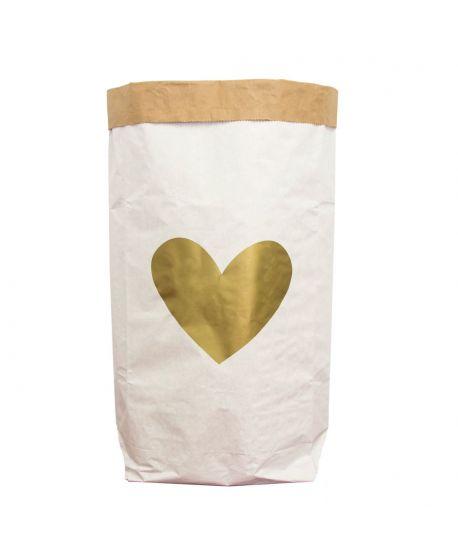 Saco de Papel Be-Nized Corazón Dorado
