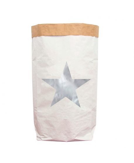 Saco de Papel Be-Nized Estrella Plateada